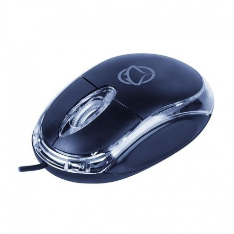 Mysz przewodowa Manta MM703N USB niebiesko-przezroczysta