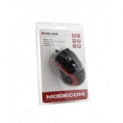 Mysz przewodowa Modecom MC-M5 optyczna czarno-czerwona
