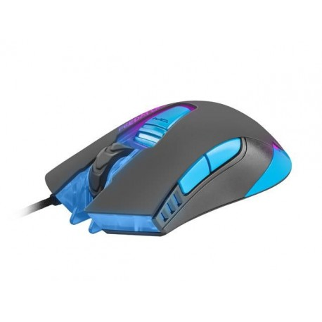 Mysz przewodowa Fury Predator optyczna Gaming 4800 DPI niebiesko-czarna