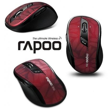 Mysz bezprzewodowa RAPOO 5G optyczna 7100P czarno-czerwona