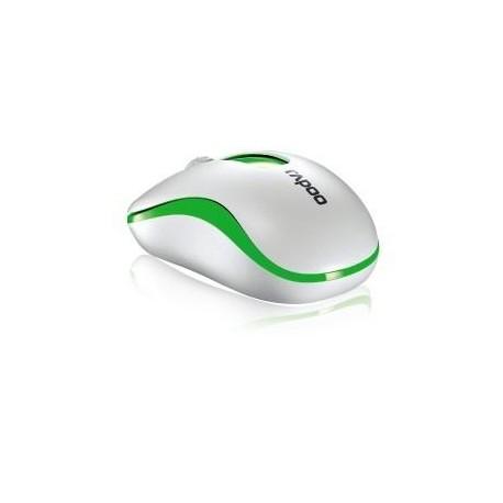 Mysz bezprzewodowa Rapoo M10 optyczna 2,4G biało-zielona
