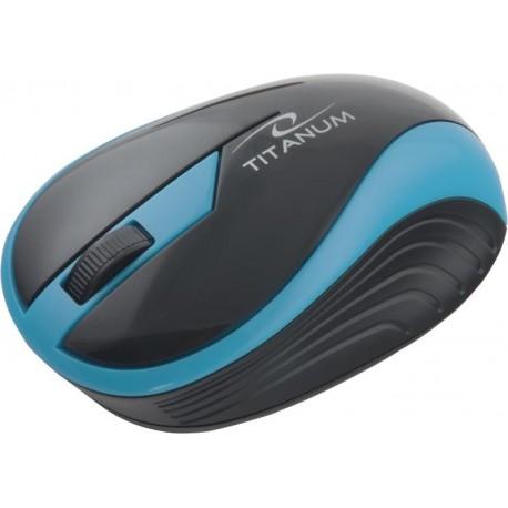 Mysz bezprzewodowa TITANUM TM113T BUTTERFLY optyczna turkusowa