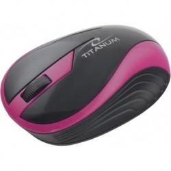 Mysz bezprzewodowa TITANUM TM113R BUTTERFLY optyczna różowa