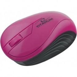 Mysz bezprzewodowa TITANUM TM115P optyczna różowa