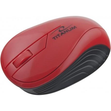 Mysz bezprzewodowa TITANUM TM115R NEON optyczna czerwona