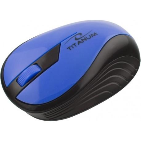 Mysz bezprzewodowa TITANUM TM114B RAINBOW optyczna niebieska
