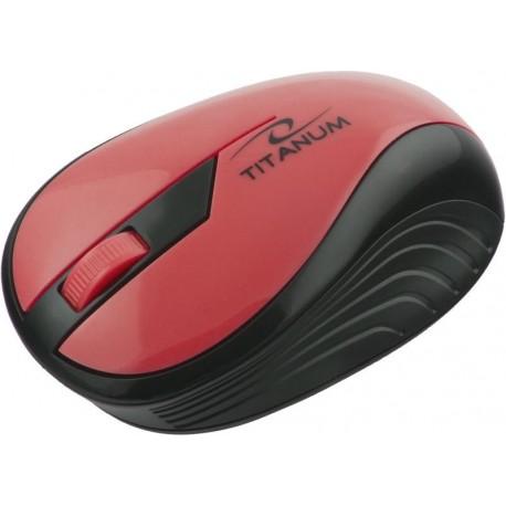 Mysz bezprzewodowa TITANUM RAINBOW TM114R optyczna czerwona