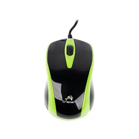 Mysz przewodowa TRACER Scorpion TRM-153 optyczna USB czarno-zielona