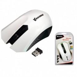 Mysz bezprzewodowa VAKOSS TM-658UW optyczna 4 przyciski 1600dpi biała