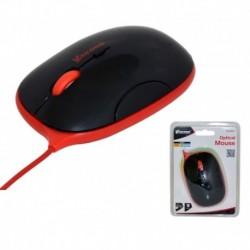 Mysz przewodowa VAKOSS TM-426KR optyczna 4 przyciski 1600dpi czarno-czerwona