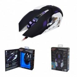 Mysz przewodowa X-ZERO X-M372KC optyczna Gaming 6 przycisków 3200dpi czarno-chromowana