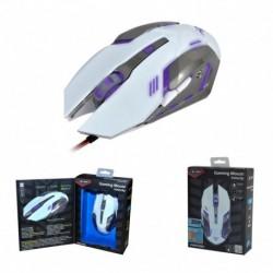 Mysz przewodowa X-ZERO X-M372WA optyczna Gaming 6 przycisków 3200dpi biało-srebrna