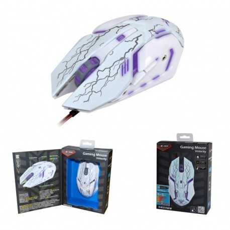 Mysz przewodowa X-ZERO X-M372WW optyczna Gaming 3200dpi biała