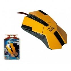 Mysz przewodowa GAMING X-ZERO X-M331Y optyczna 6 przycisków 2400dpi żółta