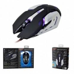 Mysz przewodowa X-ZERO X-M372KS optyczna Gaming 6 przycisków 3200dpi czarno-srebrna