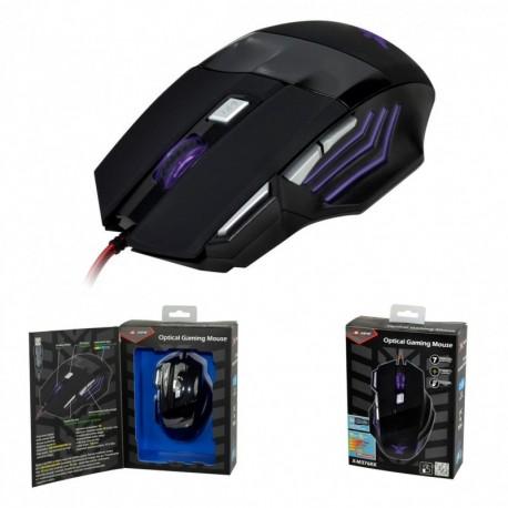 Mysz przewodowa X-ZERO X-M376KK optyczna Gaming 7 przycisków 3000dpi czarna