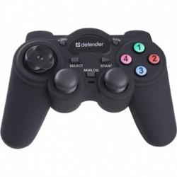 Gamepad przewodowy DEFENDER GAME RACER, tryb turbo, efekt wibracji, USB/PS2/PS3
