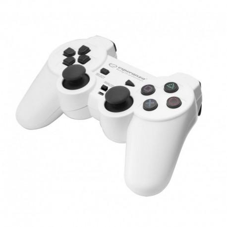 """Gamepad PS2/PS3/PC USB Esperanza """"Corsair"""" biało/czarny"""