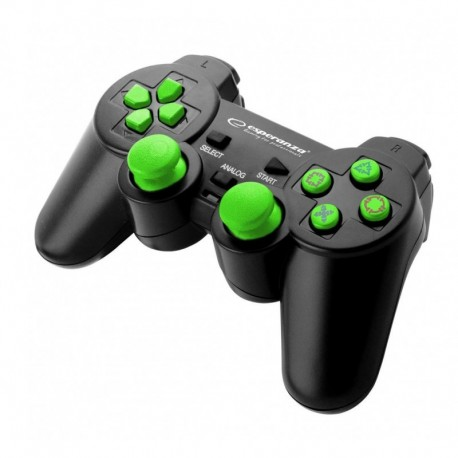 "Gamepad PS3/PC USB Esperanza ""Trooper"" czarno/zielony"