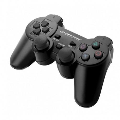 """Gamepad PS3/PC USB Esperanza """"Trooper"""" czarny"""