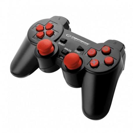 """Gamepad PS3/PC USB Esperanza """"Trooper"""" czarno/czerwony"""