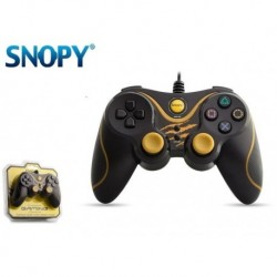 Gamepad kontroler SNOPY SG-301 USB do PC / PS3 Przewodowy Black/Yellow