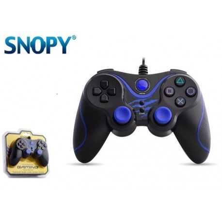 Gamepad kontroler SNOPY SG-301 USB do PC / PS3 Przewodowy Black/Blue