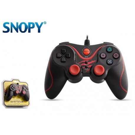 Gamepad kontroler SNOPY SG-301 USB do PC Przewodowy Black/Red