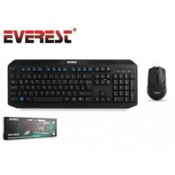 Zestaw bezprzewodowy klawiatura + mysz EVEREST KM-8000 1600 dpi czarny