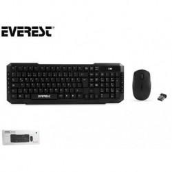 Zestaw bezprzewodowy klawiatura + mysz EVEREST KM-510 1200 dpi czarny