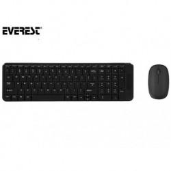 Zestaw bezprzewodowy klawiatura + mysz  EVEREST KM-220 Black