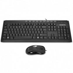 Klawiatura i mysz przewodowa Gigabyte GK-KM6150 czarna