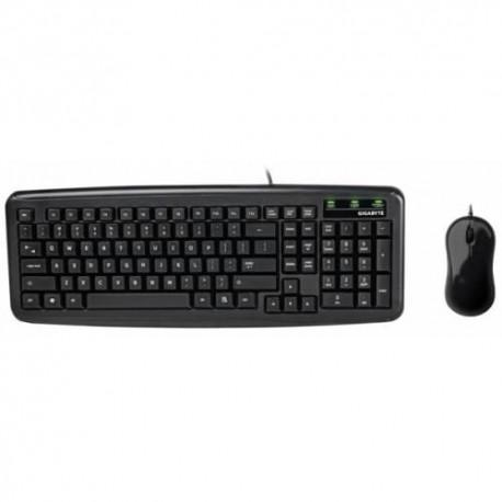 Zestaw przewodowy klawiatura + mysz Gigabyte KM5300 czarny