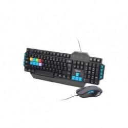 Zestaw przewodowy klawiatura + mysz Gembird Gaming czarny