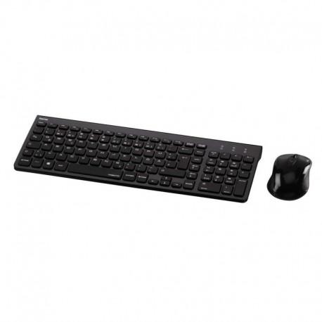 Zestaw bezprzewodowy klawiatura + mysz Hama Trento czarny