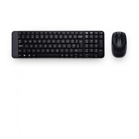 Zestaw bezprzewodowy klawiatura + mysz Logitech MK220 czarny