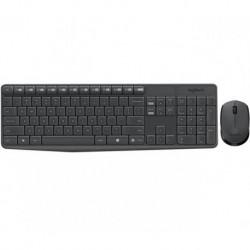Zestaw bezprzewodowy klawiatura + mysz Logitech MK235 szary