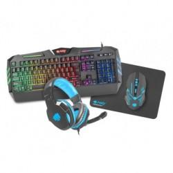 Zestaw przewodowy klawiatura + mysz + słuchawki + podkładka Natec Fury Thunderstreak Gaming szary