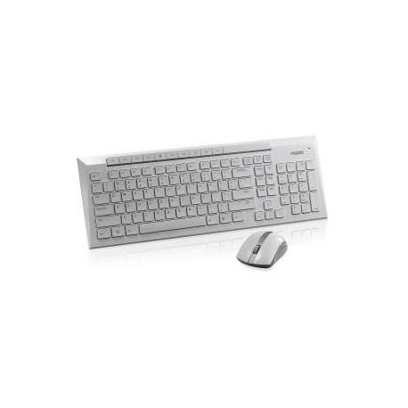 Zestaw bezprzewodowy klawiatura + mysz Rapoo 5G 8200P UI biały