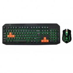 Zestaw przewodowy klawiatura + mysz  Rebeltec FIGHTER Gaming USB czarny