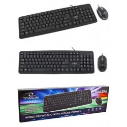 Zestaw przewodowy klawiatura + mysz TITANUM SALEM USB czarny