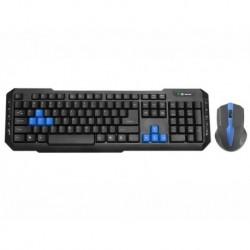Zestaw bezprzewodowy klawiatura + mysz TRACER BATTLE HEROES Mirage Gaming NANO USB czarny