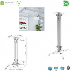 Ramię do projektora Techly ICA-PM 18M 55-90 cm, sufitowe, srebrne