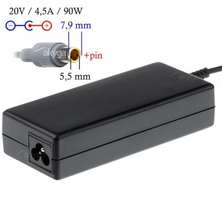 Zasilacz do notebooka Akyga AK-ND-18 20V/4.5A 90W 7.9x5.5 mm + pin