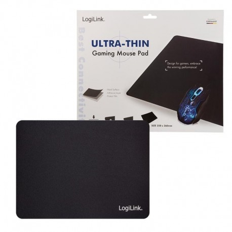 Podkładka pod mysz LogiLink ID0140 XXL, ultra cienka, czarna