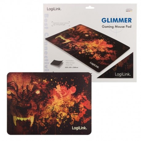 """Podkładka pod mysz LogiLink ID0141 XXL, ultra cienka, motyw """"Wilk"""""""