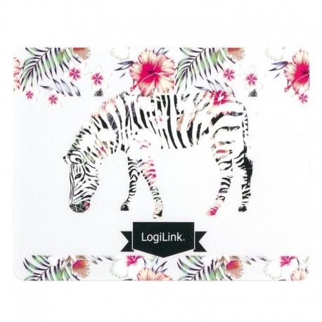 """Podkładka pod mysz LogiLink ID0147 motyw fluorescencyjny """"Zebra"""""""