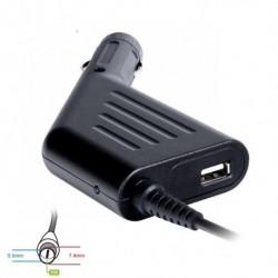 Zasilacz samochodowy do noteb. 19.5V/4.62A 90W 7.4x5.0mm+pin