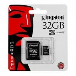 Karta pamięci MicroSDHC KINGSTON 32GB + adapter Class4