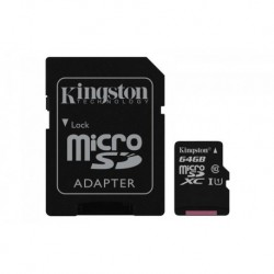 Karta pamięci KINGSTON microSDXC 64GB + adapter, Gen2 class 10 UHS-I